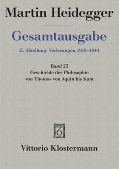 Heidegger Gesamtausgabe Bd. 23. Geschichte der ...