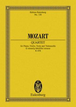 Klavierquartett g-Moll KV 478, Klavier, Violine, Viola und Violoncello, Partitur - Mozart, Wolfgang Amadeus