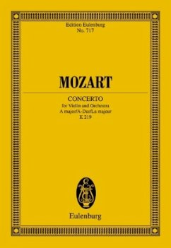 Violinkonzert Nr.5 A-Dur KV 219, Partitur - Mozart, Wolfgang Amadeus