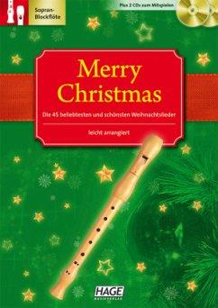 Merry Christmas, Für Blockflöte, m. 2 Audio-CDs