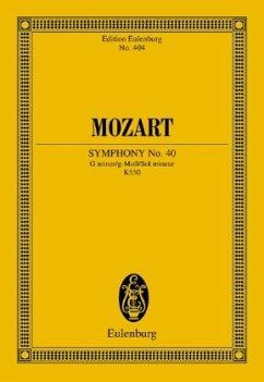 Sinfonie Nr.40 g-Moll KV 550, Studienpartitur - Mozart, Wolfgang Amadeus