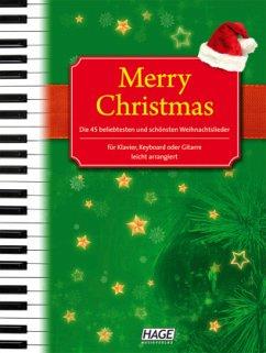 Merry Christmas, für Klavier, Keyboard oder Gitarre, m. 2 Audio-CDs