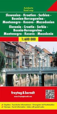 Freytag & Berndt Autokarte Slowenien, Kroatien,...