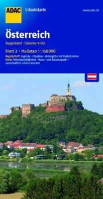 ADAC UrlaubsKarte Österreich - Burgenland, Steiermark-Ost