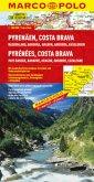 Marco Polo Karte Pyrenäen, Costa Brava; Pyrénées, Costa Brava; Los Pirineos, Costa Brava, Pyrenees, Costa Brave