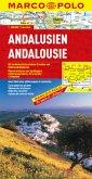 Marco Polo Karte Andalusien; Andalousie / Andalucia