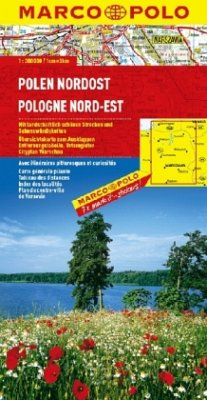 Marco Polo Karte Polen Nordost; Pologne Nord-Est; Polska Polnocno-Wschodnia; Poland North East