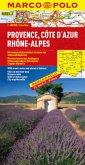 Marco Polo Karte Provence, Cote d' Azur, Rhone-Alpes