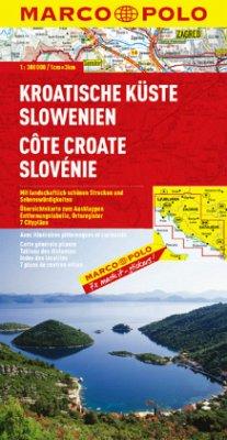 Marco Polo Karte Kroatische Küste, Slowenien; Cote Croate, Slovénie / Hrvatsko Primorje, Slovenija / Croatian Coast, Slo