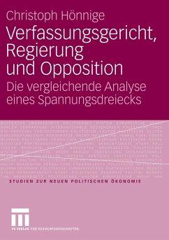 Verfassungsgericht, Regierung und Opposition - Hönnige, Christoph