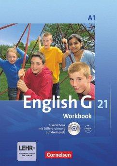 English G 21. Ausgabe A 1. Workbook mit CD-ROM (e-Workbook) und Audios Online - Seidl, Jennifer