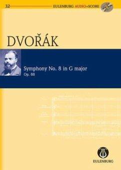 Sinfonie Nr.8 G-Dur op.88, Studienpartitur u. Audio-CD - Dvorak, Antonin