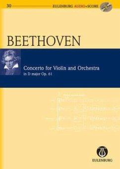 Violinkonzert D-Dur op.61, Studienpartitur u. Audio-CD - Beethoven, Ludwig van