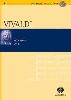 Konzerte für Violine und Streichorchester, Die Jahreszeiten Nr.1-4, op.8, Studienpartitur u. Audio-CD - Vivaldi, Antonio