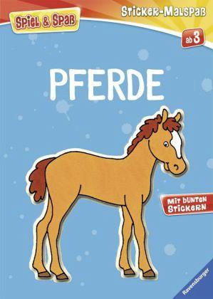 Mein Ravensburger Sticker-Malspaß. Pferde