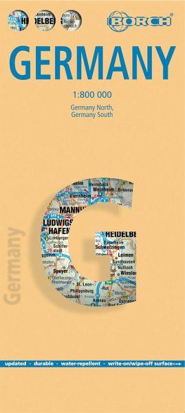 Borch Map Deutschland; Germany - Landkarten portofrei bei bücher.de