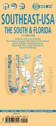 Borch Map Southeast-USA - Landkarten portofrei bei bücher.de