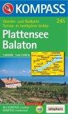 Kompass Karte Plattensee / Balaton