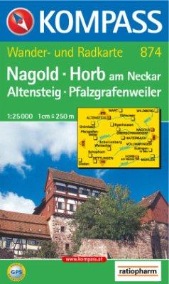 Kompass Karte Nagold, Horb am Neckar, Altensteig, Pfalzgrafenweiler