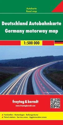 Freytag & Berndt Autokarte Deutschland, Autobahnkarte; Alemania, mapa de autopistas; Duitsland wegenkaart; Germany, moto