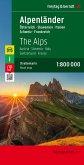 Alpenländer 1 : 800 000. Autokarte