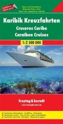 Freytag & Berndt Autokarte Karibik Kreuzfahrten