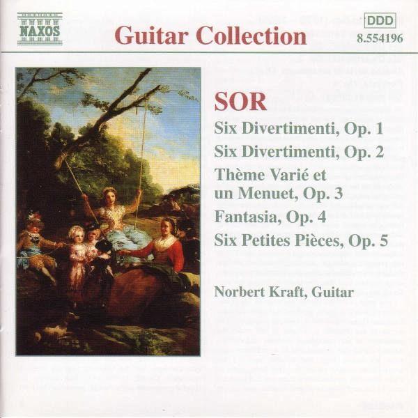 Fernando Sor Sor - Steven Novacek 24 Exercises Op. 35 / Pièces De Société Op. 33