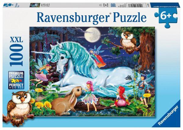 Ravensburger 10793 - Im Zauberwald, Einhorn, XXL Puzzle 100 Teile