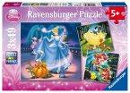 Ravensburger 09339 - Schneew., Aschenp., Arielle, 3 x 49 Teile Puzzle