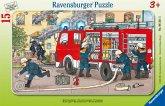 Ravensburger 06321 - Mein Feuerwehrauto, 15 Teile Rahmenpuzzle