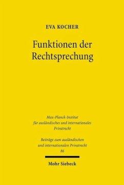 Funktionen der Rechtssprechung Konfliktlösung im deutschen und englischen Verbraucherrecht - Kocher, Eva