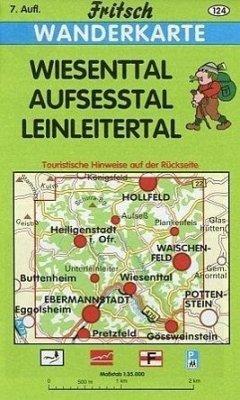 Fritsch Karte - Wiesenttal, Aufseßtal, Leinleitertal