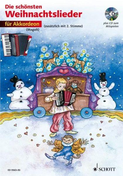 Die Schönsten Weihnachtslieder.Für Akkordeon M Audio Cd Die Schönsten Weihnachtslieder Notenausg M Audio Cds
