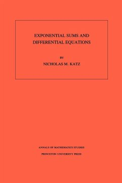 Exponential Sums and Differential Equations. (AM-124), Volume 124 - Katz, Nicholas M.