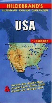 Hildebrand's Urlaubskarte USA; Etats-Unis