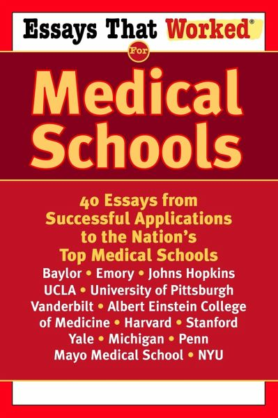 medical school essays that worked Writing guidelines medical school personal statements they impart in the interview sections of essays that worked for medical school and many other how-to books.