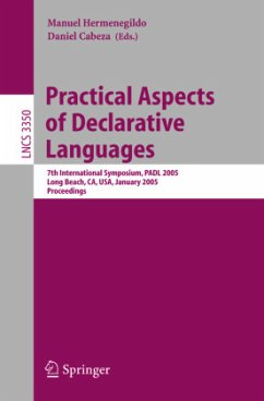 Practical Aspects of Declarative Languages - Hermenegildo, Manuel / Cabeza, Daniel (eds.)