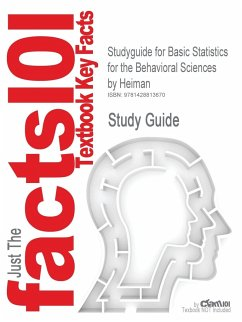 Studyguide for Basic Statistics for the Behavioral Sciences by Heiman, ISBN 9780618220175