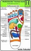 Reflexzonen Set. Medizinische Taschen-Karte