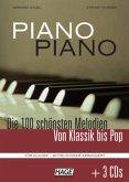 Piano Piano. Notenbuch mit 3 CDs