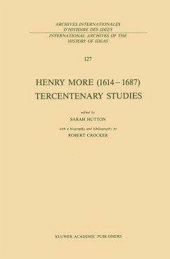 Henry More (1614-1687) Tercentenary Studies - Hutton, S. (Hrsg.)
