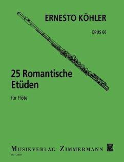 25 romantische Etüden op. 66 für Flöte solo