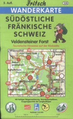Fränkische Schweiz Karte.Fritsch Karte Südöstliche Fränkische Schweiz