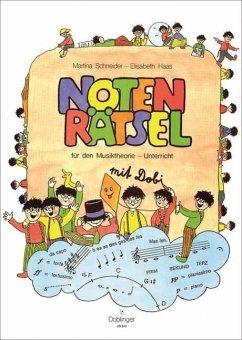 Notenrätsel mit Dobi für den Musiktheorie-Unterricht