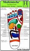 Fussreflexzonen Therapie - Fusssohle, Medizinische Taschen-Karte