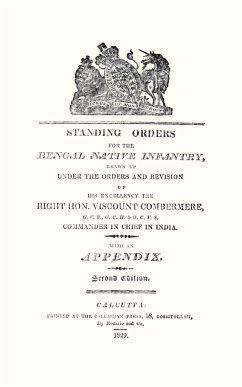 Standing Orders for the Bengal Native Infantry 1829 - N/A