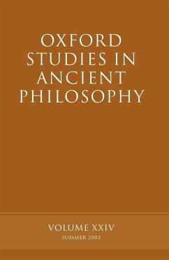 Oxford Studies in Ancient Philosophy: Volume XXIV: Summer 2003 - Sedley, David (ed.)