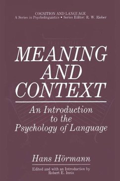 Meaning and Context - Hörmann, Hans