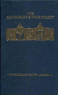 The Register of Walter Langton, Bishop of Coventry and Lichfield, 1296-1321: Volume II - Hughes, J. B. (ed.)