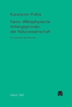 Kants Metaphysische Anfangsgründe der Naturwissenschaft